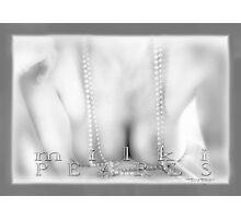 Milki Pearls Mono © Vicki Ferrari Photography Photographic Print