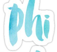 Gamma Phi Beta Blue Watercolor Sticker