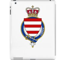 Coat of arms (family crest) for last-name or surname Posey (England) . Heraldry banner for your name. iPad Case/Skin