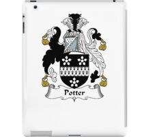 Coat of arms (family crest) for last-name or surname Potter . Heraldry banner for your name. iPad Case/Skin
