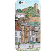 Graphite and Coloured Pencil Drawing of  Richmond, Yorkshire  iPhone Case/Skin