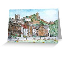 Graphite and Coloured Pencil Drawing of  Richmond, Yorkshire  Greeting Card