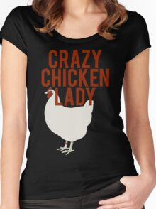Crazy Chicken Lady Women's Fitted Scoop T-Shirt