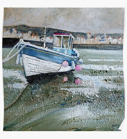 Seaton Rose in Staithes Harbour Poster