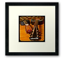 Josh's Guitars Framed Print