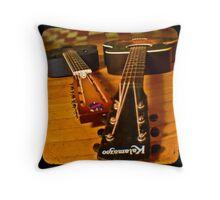 Josh's Guitars Throw Pillow