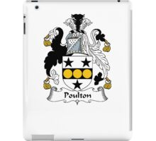 Coat of arms (family crest) for last-name or surname Poulton . Heraldry banner for your name. iPad Case/Skin