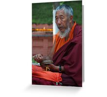 Budhist Monk Greeting Card
