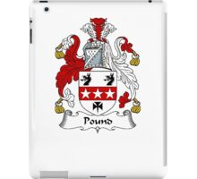 Coat of arms (family crest) for last-name or surname Pound . Heraldry banner for your name. iPad Case/Skin