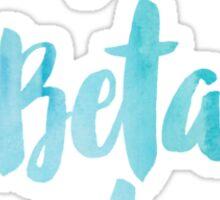 Pi Beta Phi Blue Watercolor Sticker