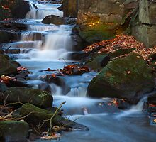 Waterfall, Lumsdale. by Nick Atkin