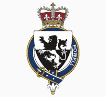 Coat of arms (family crest) for last-name or surname Powell (Wales) . Heraldry banner for your name. T-Shirt