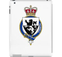 Coat of arms (family crest) for last-name or surname Powell (Wales) . Heraldry banner for your name. iPad Case/Skin