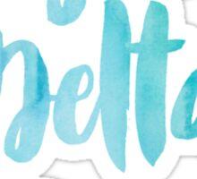 Sigma Delta Tau Blue Watercolor Sticker