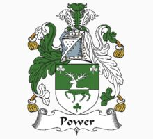 Coat of arms (family crest) for last-name or surname Power . Heraldry banner for your name. T-Shirt