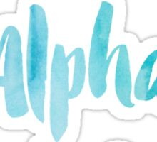 Kappa Alpha Theta Blue Watercolor Sticker
