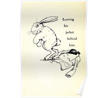 The Tale of Peter Rabbitt Beatrix Potter 1916 0036 Leaving His Jacket Behind Him Poster
