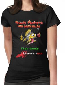 Squid Hunters NSW & Fish Candy Womens Fitted T-Shirt