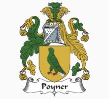 Coat of arms (family crest) for last-name or surname Poyner . Heraldry banner for your name. T-Shirt