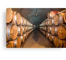 Wine Barrels Landscape Canvas Print