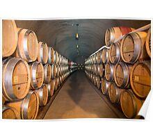 Wine Barrels Landscape Poster