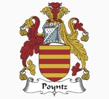 Coat of arms (family crest) for last-name or surname Poyntz . Heraldry banner for your name. T-Shirt
