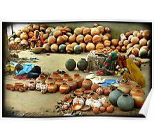 Pottery merchants, India   Poster