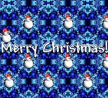 Blue pearls Merry Christmas card by walstraasart