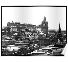 Blanket of Snow - Edinburgh Poster