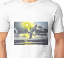 Circle seascape with seagull 29 08 2015 Unisex T-Shirt