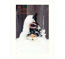 Chicago Bears Gnome Art Print