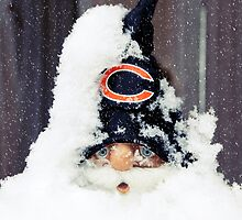 Chicago Bears Gnome by Hilary Walker