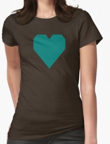 Teal Green Womens Fitted T-Shirt