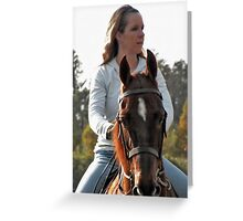 The Rider Greeting Card