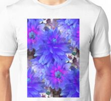 Blue Dahlias Unisex T-Shirt