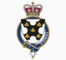 Coat of arms (family crest) for last-name or surname Pringle (Scotland) . Heraldry banner for your name. T-Shirt