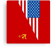 Man From Uncle Flag Mashup Canvas Print