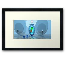 Blue Fandango with Marbles Still Life Framed Print