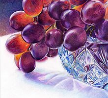 Grapes in Crystal Bowl by Valentina Gatewood