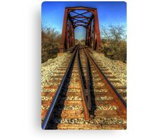 Atop the Tracks at the Trestle Canvas Print