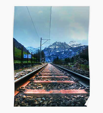 Alpine Rails Poster