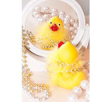 """""""Looking Ducky"""" - rubber ducky dresses up Photographic Print"""