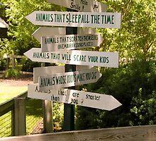 """Animal Signs"" - Humorous Zoo Sign by John Hartung"