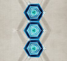Abstract Hexagon Blue Pattern by cinema4design