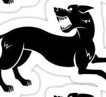 Three Hounds Sticker