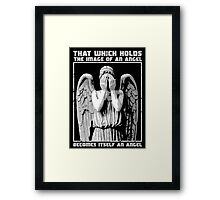 The image of an angel. (Bloody Version) Framed Print
