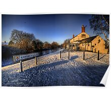 Winter At The Boat Inn  Poster