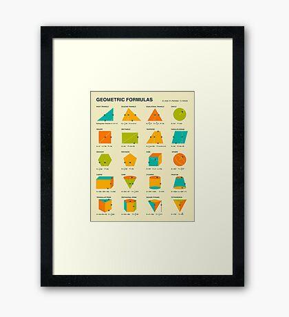 GEOMETRIC FORMULAS Framed Print