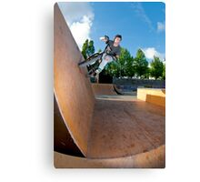 BMX Bike Stunt Wall Ride Canvas Print