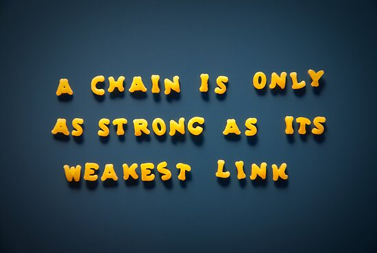 A chain is only strong as its weakest link by homydesign